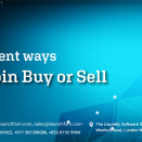 Different ways Bitcoin Buy or Sell