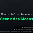 New Capital Requirements In Securities Licenses