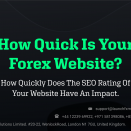 How Quick Is Your Forex Website? – How Quickly Does The SEO Rating Of Your Website Have An Impact.
